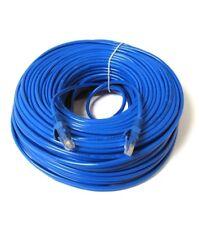 EXTRA LONG 20M METRE RJ45 Ethernet Cat5e Network Cable LAN Patch Lead BLUE