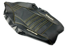 FourWerx Honda TRX450R Wave Seat Cover - Black with Gold Thread