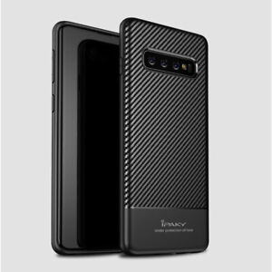 New Ipaky Carbon Fiber Back Shell Case Cover Samsung Galaxy S10 S10e S10 Plus