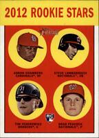 2012 Topps Heritage Baseball #265 Chambers/Lombardozzi/Federowicz/Peacock RC