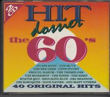 HIT DOSSIER THE 60'S 2-CD BOX BR MUSIC Bee Gees Van Morrison Kinks Les Baroques