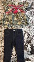 NWT BABY GIRL JESSICA SIMPSON 2pc. BLACK/ IVORY EMBROIDERED TOP  SIZE 9/12m
