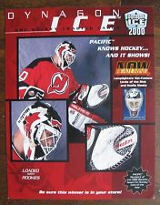2000 Dynagon Ice NHL Hockey Cards Sell Sheet (no cards) Martin Brodeur