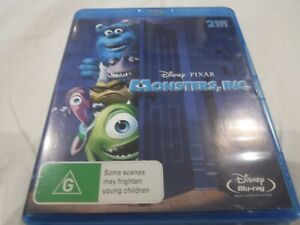 MONSTERS INC 2 Disc Bluray edition Disney Pixar Like New condition Free Post