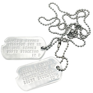 James Barnes 'Bucky' WWII Style Military Dog Tags - Movie Costume Cosplay Prop