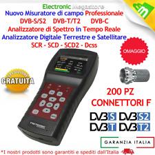 MISURATORE DI CAMPO COMBO DTT & SATELLITARE COMBINATO SUPPORTO LNB SCR