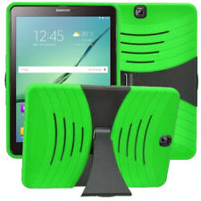 For Samsung Galaxy Tab S2 9.7 Inch T817 Tablet Silicone + Hard Cover Case Green