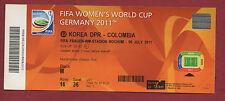 Orig.Ticket    Frauen WM DEUTSCHLAND 2011   NORDKOREA - KOLUMBIEN / Spiel 22  !!