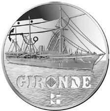 FRANCE 10 Euro Argent BE 2015 Grand Navire Français la Gironde - Silver coin