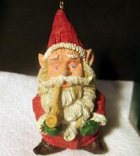 Hallmark Christmas Ornament 1989 Old World Gnome Santa Keepsake Resin Sculpture