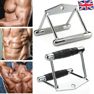 Gym Training Cable Attachment Double Seated Row V-Handle Lat Twin Close Grip Bar