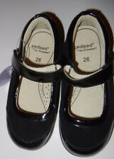 NEW NWT Pediped 26 9-9.5 Toddler Girls Alyssa Black Patent Leather Shoes LR