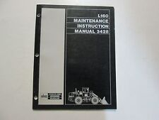 Volvo BM Euclid L160 Maintenance Instruction Manual 3428 USED OEM VOLVO