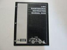 Volvo BM Euclid L160 Maintenance Instruction Manual 3428 USED OEM VOLVO