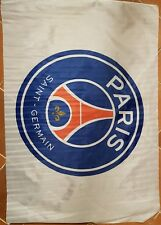 Drapeau blanc logo PSG - white Flag