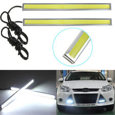 2PCS 12V Car Exterior Decor Thin COB LED Daytime Strip Flexible Driving Lights