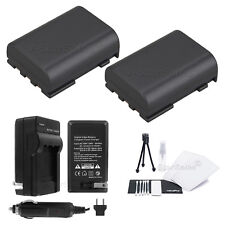 2x NB-2LH Battery + Charger for Canon ZR100 ZR200 ZR300 ZR400 ZR500 ZR600 ZR700