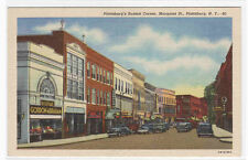 Margaret Street Plattsburg New York linen postcard