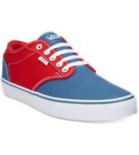 Mens VANS Size 10 ATWOOD OFF THE WALL (2 Tone) Red/Blue Canvas EUR 43