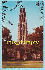 CT New Haven~YALE UNIVERSITY~Harkness Memorial Tower~50s/60s Vintage Postcard #2