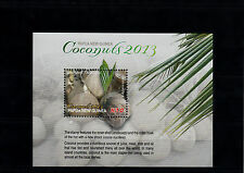 Papua New Guinea 2013 MNH Coconuts 1v S/S Inner Shell Endocarp