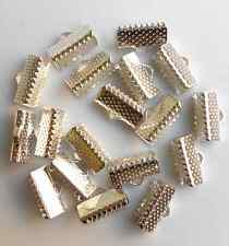 10mm,13mm,16mm Fold Over Clip Tips Cord Crimp Ends Bead Cap Jewelry Findings