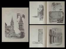 ANGOULEME, EGLISE SAINT AUSONE - PLANCHES ARCHITECTURE 1892 - PAUL ABADIE
