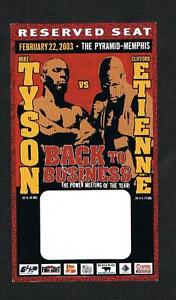 2003 Iron Mike Tyson vs Clifford Etienne boxing ticket pass boxer fight Memphis