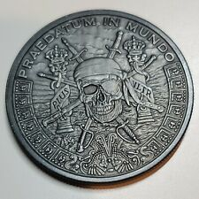 Pirate Silver Pieces of 8 Silver Shield 1 Troy Oz Of Antiqued Patina .999 Fine