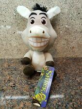 New Shrek Donkey Plush Toy Factory Stuffed Doll Figure Movie 2 3 Cute Animal Nwt