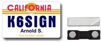 Ham Radio ID Badges - California License Plate - Amateur Radio