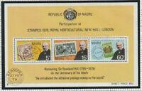 NAURU 1979 ROWLAND HILL CENTENARY SOUVENIR SHEET MNH / UNMOUNTED MINT