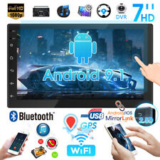 "7"" Double 2DIN Car Radio Android 9.1 WIFi GPS Navi Bluetooth USB FM MP5 Player"