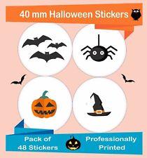 48-Pack 40 mm Hoja de etiquetas de Halloween, artesanía, álbumes de recortes Pegatinas Hal01