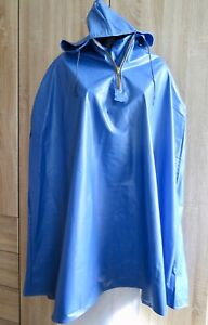 PVC Vinyl Cape Regenmantel S-L shiny rubber Raincoat Gummi glanz Regenjacke