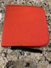 CD Holder DVD Case Storage Wallet Disc Organizer Book Media Music Holder RED