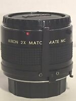 Kiron 2x Match Mate MC M/MD Japan Camera Lens with Cap - Photography - Untested