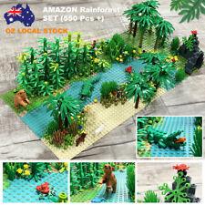 Amazon Rainforest Set fits Lego's Brick with 2 Baseplates and 550 Pcs +