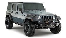 Bushwacker Pocket Front & Rear Fender Flare Set 07-17 Jeep JK Unlimited 4-Door