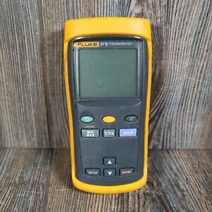 Fluke 51 II Yellow And Black Pocket Handheld Single Input Digital Thermometer