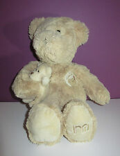 "Mothercare Cuddle With Love beige teddy bear with baby soft toy 18"" approx"