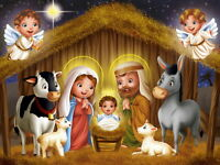 Christmas Home Art Wall Decor Birth Of Jesus Oil painting Printed On Canvas