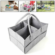 Baby Diaper Organizer Caddy Felt Changing Kids Storage Carrier Bag Container