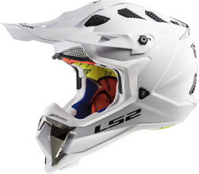 LS2 MX470 Subverter Motocross Helmet White Off Road Crash Lid Racing MX