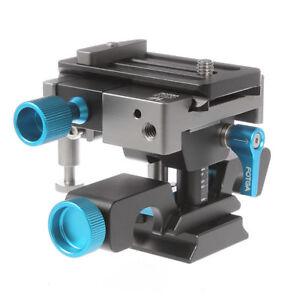 FOTGA DP500III Adjustable Quick Release Baseplate Clamp for 15mm Rod Camera Rig