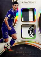 2017-18 Panini Immaculate SP Acetate Dual Patches James Rodriguez #'d /35 Madrid
