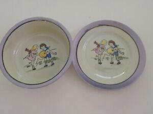 Vintage set of baby dish & plate set made in Japan