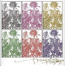 Blotter Art Signed by Stanly Mouse Grateful Dead 6 Panel Birtha Perforated Sheet