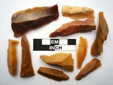10 x Neolithic Blades / Tools, Saharan Flint Artifacts- 4000BC (0844)