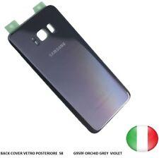 SCOCCA VETRO POSTERIORE RETRO BACK COVER SAMSUN GALAXY S8  G950F ORCHID GREY